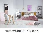 spacious  feminine bedroom... | Shutterstock . vector #717174547