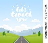 vector cartoon landscape with... | Shutterstock .eps vector #717174925