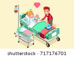 pregnancy and birth cartoon... | Shutterstock .eps vector #717176701