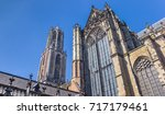 dom church and tower in the... | Shutterstock . vector #717179461