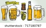 color beer glass  mug  ribbon ...   Shutterstock .eps vector #717180787