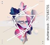 fluid poster design. abstract...   Shutterstock .eps vector #717182731