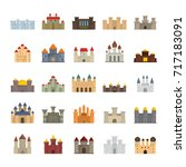 Medieval Castles Flat Icons Se...