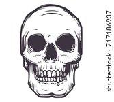 vector skull | Shutterstock .eps vector #717186937