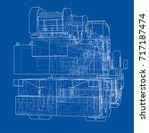mobile crane. vector rendering...   Shutterstock .eps vector #717187474