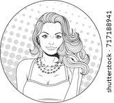 vector illustration  pop art... | Shutterstock .eps vector #717188941