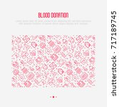 blood donation concept with... | Shutterstock .eps vector #717189745