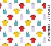fashion shirt and t shirt... | Shutterstock .eps vector #717193615