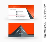 creative and clean double sided ... | Shutterstock .eps vector #717194899