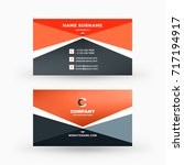 creative and clean double sided ... | Shutterstock .eps vector #717194917