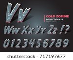 3d halloween vector monster... | Shutterstock .eps vector #717197677