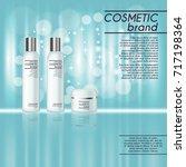3d realistic cosmetic bottle... | Shutterstock .eps vector #717198364