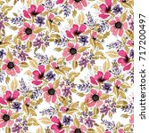 seamless pattern with... | Shutterstock . vector #717200497