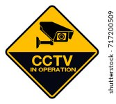cctv camera. black video... | Shutterstock .eps vector #717200509