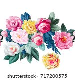 flowers carry the scent of... | Shutterstock . vector #717200575