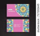 business card. vintage... | Shutterstock .eps vector #717202645