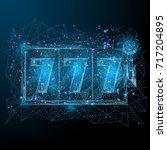 polygonal slot machine isolated ... | Shutterstock .eps vector #717204895