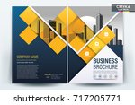 front and back cover of a... | Shutterstock .eps vector #717205771