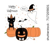 hand drawn vector illustration... | Shutterstock .eps vector #717205831