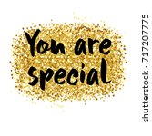 you are special to me  ... | Shutterstock . vector #717207775