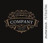 antique label typography... | Shutterstock .eps vector #717212761