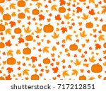autumn seamless pattern with... | Shutterstock .eps vector #717212851