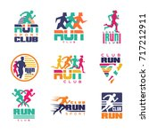 run sport club logo templates... | Shutterstock .eps vector #717212911