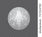 disco ball icon isolated on... | Shutterstock .eps vector #717214705