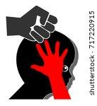 violence against kids. concept...   Shutterstock . vector #717220915