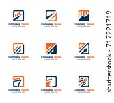 set vector logo finance | Shutterstock .eps vector #717221719
