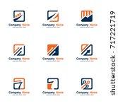 set vector logo finance | Shutterstock .eps vector #717221719