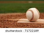 baseball on the pitchers mound... | Shutterstock . vector #71722189