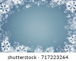 christmas background with... | Shutterstock . vector #717223264