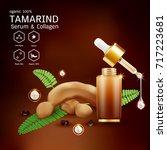 tamarind serum or collagen and...   Shutterstock .eps vector #717223681
