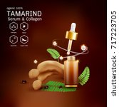 tamarind serum or collagen and...   Shutterstock .eps vector #717223705