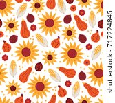 thanksgiving day seamless... | Shutterstock .eps vector #717224845