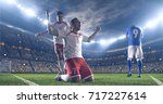 soccer players celebrate a... | Shutterstock . vector #717227614