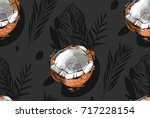 hand drawn vector abstract... | Shutterstock .eps vector #717228154