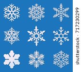 laser cutting snowflakes set.... | Shutterstock .eps vector #717230299