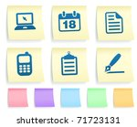 Equipment Icons On Post It Note ...