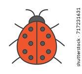 ladybug color icon. ladybird.... | Shutterstock . vector #717231631