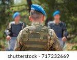 military trainer giving...   Shutterstock . vector #717232669
