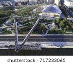 moscow park zariadye  soaring... | Shutterstock . vector #717233065