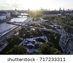 moscow  park zariadye  soaring... | Shutterstock . vector #717233311