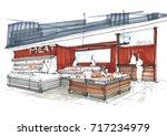my sketch design idea of... | Shutterstock . vector #717234979