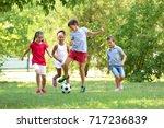 Cute Children Playing Football...