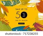 sale banner template design.... | Shutterstock .eps vector #717238255