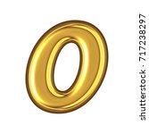 shining gold style number zero... | Shutterstock . vector #717238297