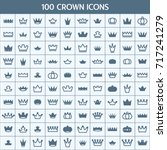 simple set of crown related... | Shutterstock .eps vector #717241279