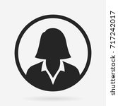 businesswoman icon   Shutterstock .eps vector #717242017